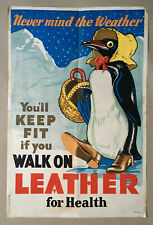 New listingPenguin wearing Leather shoes, Vintage Poster by Dudley S Cowes