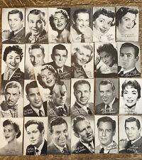 25 Arcade Cards Movie Actors Actresses Lot D Connie Haines Ed Sullivan