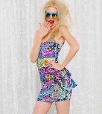 NWT Betsey Johnson Bambi Deer Tail Feather Bustle Dress M Medium 6 8 10 NEW