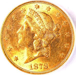 1878-S $20 MS62 ICG -LIBERTY HEAD
