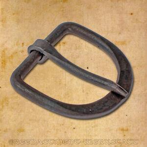 Handgeschmiedete D-Schnalle aus Eisen für 30mm Riemen Gürtelschnalle Mittelalter