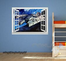 Star Wars Space Craft Earth 3D Window Wall Decals Removable Stickers Kids Decor