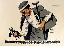 The Ludendorff Fund LUDWIG HOHLWEIN Vintage German WW1 Poster