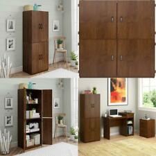 Kitchen Storage Cabinet Tall Wood Pantry Organizer Shelves Armoire Bedroom Shelf