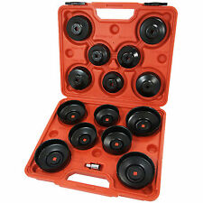 """16 Pc Cap Type Oil Filter Wrench Puller Removal Tool Set Kit Adaptor 3/8"""" Drive"""