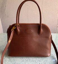 Original vintage HERMES brown BOLIDE 1923 Mini Bag in Epsom Leather
