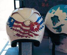8x10 Handpainted Motorcycle Helmet Art Photo Portfolio Page Airbrush Artist-Gift