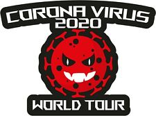 STOP COVID Virus FUNNY STICKER WORLD TOUR Signs HUMORISTIC  DECALS 19