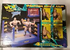 ORIGINAL SAN FRANCISCO TOYMAKERS WCW THUNDER RING AND CAGE 11 FIGURES