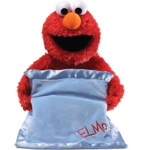 ~❤️~Sesame Street Peek A Boo ELMO Animated blanket Talking Baby Soft Toy 38cm❤️
