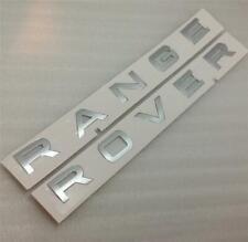 Authentique Range Rover FONT BONNET BADGE COFFRE Lettres * argent *