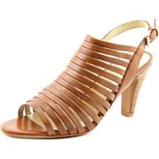 Zapatos de tacón de mujer de piel color principal marrón talla 37