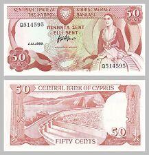 Zypern / Cyprus 50 Cents 1989 p52 unc