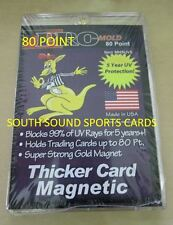ONE (1) PRO-MOLD REAL THICK CARD MAGNETIC HOLDER - 80PT (5 YEAR+ UV)
