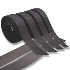 Oil-Faux Brown//White//Black Leather (Medium)Strap For Strip Belt Hide