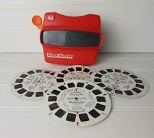 Vintage Red Viewmaster 3D Viewer with 4 Sesame Street Discs, Tyco Toys Inc. 1980