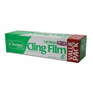 100m x 300mm Catering Kitchen Clear Cling Film Food Plastic Wrap Large Wrapping