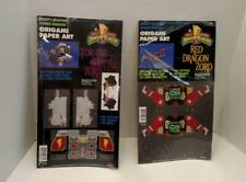 Lot of 2 Zords 01994 Mighty Morphin Power Rangers Origami Paper Art Dragon, Tor