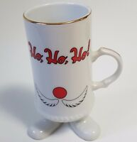 Vintage HO HO HO Santa Claus Shaped Coffee Mug Japan 3D Christmas