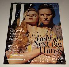 Eddie Redmayne Hand Signed Oversized W Magazine IN PERSON Autograph DANISH GIRL