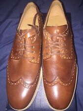 Cole Haan Lunargrand Wingtip Leather Brown Mens Size 8.5