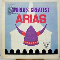 "12"" 33 RPM MONO LP - SUTTON SU-258 - THE WORLD'S GREATEST ARIAS (12 SELECTIONS)"