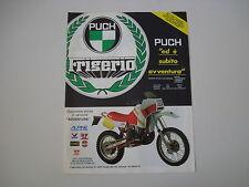 advertising Pubblicità 1986 MOTO PUCH FRIGERIO 250 RALLY