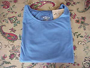 *NWT* Route 66 L/S Crew Stretch Layering Tee Blue  L