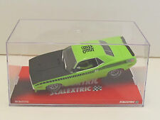 6438CN SCX / Scalextric 1970 Plymouth Trans Am AAR Cuda LIME GREEN 1:32 Slot Car