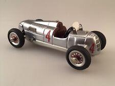 Vintage Audi #4 SCHUCO Studio II Auto Union Tin Wind-up Car With Stand - Mint