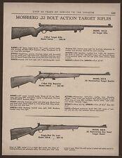1966 MOSSBERG Model 144-LS, 340-B, 320-B .22 Bolt Action Rifle Ad