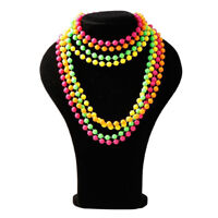 Fancy Dress  plastic Beads long Necklace 70's & 80's theme, MA