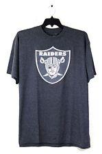Oakland Raiders Grey Big Logo T-Shirt, NFL Team Apparel, XL