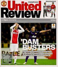 MANCHESTER UNITED v AJAX Europa League 2011/12 MINT