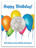 2020 $1 1 oz American Silver Eagle Birthday Balloons Coin Card GEM BU SKU60249
