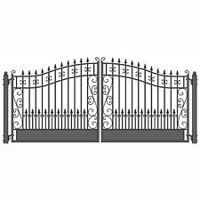 ALEKO Venice Style Ornamental Iron Wrought Dual Driveway Gate 18' High Quality