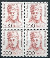 Bund 1498 postfrisch Viererblock BRD VB ungefaltet Frauen MNH