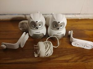 2 VTech Safe and Sound Owl Camera Microphone VM344 Baby Monitor