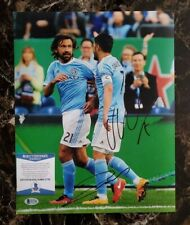 Andrea Pirlo & David VIlla autographed signed 11x14 photo coa BAS beckett#s17792