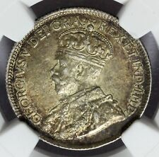 1919-C Canada Newfoundland 25 Cents Silver Coin - NGC AU 55 - KM# 17