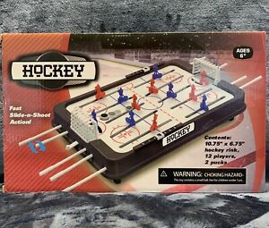 Portable Table Hockey Game With 12 Players And 2 Pucks NEW Sealed