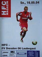 Programm 2003/04 HFC Hallescher FC - Dresden Laubegast