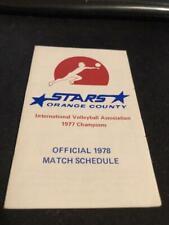 1978 Orange County Stars Pro Volleyball Pocket Schedule