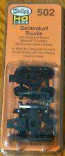 "Kadee HO Scale #502 Bettendorf Trucks w/Ready to Mount 33"" Smooth Back Wheels"