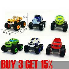 6Pcs Blaze And the Monsters Machines Vehicles Racer Cars Trucks Kids Toy Gifts~