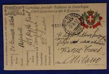 Posta Militare 33^ Divisione 5.4.1917 in Franchigia Timbro Verificato #XP282B