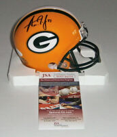 PACKERS Aaron Jones signed mini helmet w/ #33 JSA COA AUTO Autographed Green Bay