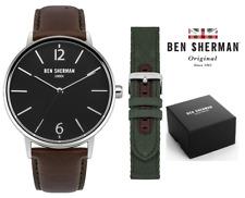 Ben Sherman London Portobello Classic Mens Watch WB059BRN Black Silver Brown