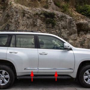 Chrome Side Door Body Molding Cover Trim For Toyota Prado J150 FJ150 2014-2021