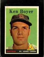 1958 TOPPS #350 KEN BOYER EXMT CARDINALS  *XR20169